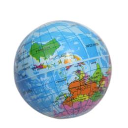 Wholesale Toy Sponge Balls - New Mini World Map Foam Earth Globe Ball Stress Soft Sponge Global Ball Kids Education Toy