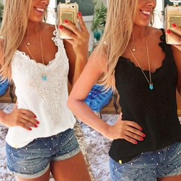 Wholesale Ladies Camisoles - Fashion Shirts Casual Tops Tee Clothing Long T-Shirt Women Ladies Cotton T shirts Tops Shirts Camisole Casual Vest Top Blouse