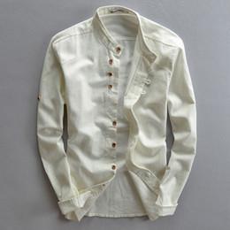 27064c75561 Wholesale- Plus Size Shirts Cotton Linen Men Shirt Long Sleeve Summer Style  Hawaiian Shirts Sexy Slim Fit Men Clothes 2016 New Arrival