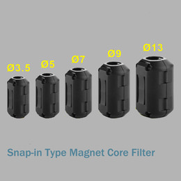 Wholesale Magnet Ferrite - Convenient lock type Promotion Signal Magnetic Ring Power Cable EMI Suppressor Ferrite Magnet Core Filter Clasp interference filter