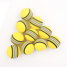 Argentina Al por mayor-50PCS bolas de espuma de EVA amarillo / rojo / azul esponja del arco iris práctica de entrenamiento en línea Soft pelota de golf supplier indoor golf training aids Suministro
