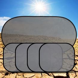 Wholesale Wholesale Sun Screen - Wholesale- 5Pcs 3D Photocatalyst Mesh Sun Visor Window Screen Sunshade Car Curtain Car Cover Sunshade Car interior Product With Two Sucker