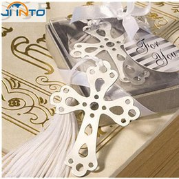 Wholesale Bookmark Baby Design - Wholesale-2015 Fashion Special Design wedding decoration 10PCS Cross Bookmark wedding baby shower party favors gifts
