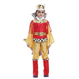 2019 trajes encantados para o dia das bruxas História de Xangai crianças rei traje cosplay christma do dia das bruxas Príncipe encantadora roupas de festa, suitale para crianças de 4-14 anos de idade trajes encantados para o dia das bruxas barato