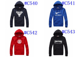 Wholesale Hoodie Animal Hats - C540 Wholesale Mens Hoodies Sweatershirts,With Hat,Autume Winter Pullover Hoodies Track Sports Hoodies,DHL FEDEX EMS Free Shippment!2016