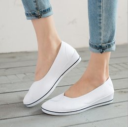 Wholesale Hospital Works - Spring and summer The nurse shoes white Women wedges Work white shoes Beauty salon hospital dance Canvas shoes