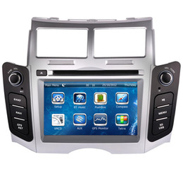 "Wholesale Bt Car Audio - 7"" Car DVD player with GPS(optional),USB SD,AUX,BT TV,car audio Radio stereo headunit for TOYOTA YARIS 2005 2006 2007 2008 2009 2010 2011"