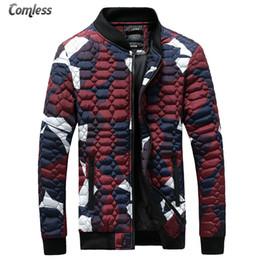Wholesale Camouflage Outwear - Wholesale- Fashion Men Jackets 2016 Brand Men Camouflage Stars Same Coats Men's Slim Fit Outwear Winter Jackets Clothing Plus Size S-4XL