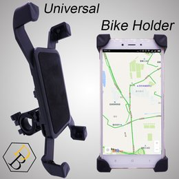 Wholesale Bike Iphone Holder - Bike Holder Black Bicycle Case for Mobile phone Travel Stand Universal Accessory Plastic Support with 360 Degree Rotation for Samsung iphone
