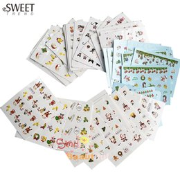 Wholesale Watermark Nails - Wholesale- SWEET TREND 44 Sheets Mixed Christmas Style Nail Art Water Transfer Sticker Manicure Decor Beauty Watermark Nail Tip Decal NJ004