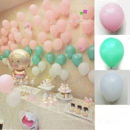 Wholesale Ballon Black - 100pcs lot light pink balloons tiffany blue ballon party globes birthday baby shower 10inch 2.2g thicken latex balloon