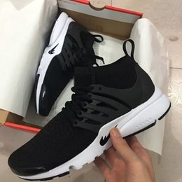 Wholesale Womens Leather High Boots - High Air Presto Men And Women Running Shoes Mens Training Sneaker Womens Sports Shoes AIR PRESTO BR QS Breathe Black White Walking Boot