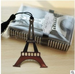 Wholesale Wholesale Eiffel Tower Party Favors - PASAYIONE The Eiffel Tower Metal Bookmarks Party Supplies Birthday Party Favors Teacher And Students Gift Table Centerpieces