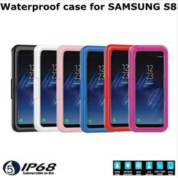 Wholesale Dust Proof Mobile Phones - 2017 New Arrival IP68 Waterproof Shockproof Dust proof Mobile Phone Case for Samsung Galaxy S8 S8 Plus S7 edge iPhone 7 S6 edge