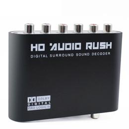 Wholesale Digital Sound Converter - SPDIF Coaxial to 5.1 2.1 Channel AC3 DTS Audio Decoder Gear Surround Sound Rush Digital Sound Decoder For Audio Converter