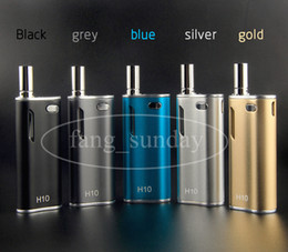 Wholesale Ecigarette Cartridges - H10 CBD Oil Bud Starter Kit 650mAh Box Mod Vapes Pen Glass Cartridge Magnetic Ecigarette Atomizer