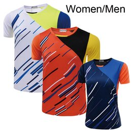 Wholesale Table Tennis Shirts Women - New, badminton shirt men   women, table tennis clothes, tennis shirt men   women, sports jacket, breathable, sweat absorption, free shipping