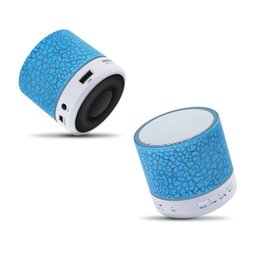 Wholesale Free China Call - Column LED Mini Wireless Bluetooth Speaker TF USB FM Portable Music Loudspeakers Hand-free call For iPhone 6 Phone PC with Mic