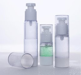 Wholesale Wholesale Airless Cosmetic Packaging - 15ml 30ml 50ml airless bottle,cosmetic package,Emulsion bottles,cosmetic container,pump bottle Perfume Bottle 100pcs lot