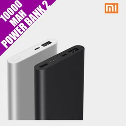 Wholesale Backup Power Ipad - Original Xiaomi Mi Power Bank 2 10000mAh External Battery Portable Mobile Backup Bank MI Charger for Android iPhones 7 plus,iPad