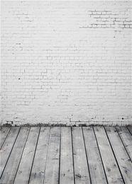 computador, pintado, fundos Desconto Pintado de computador parede de tijolo branco fotografia cenário Vintage cinza textura de madeira piso crianças crianças foto fundo estúdio papel de parede
