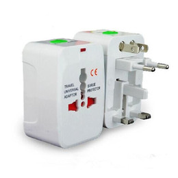 Wholesale Dock Adaptor - Universal International Travel World Wall Charger AC Power Adapter with AU US UK EU Plug All in One DC Power Socket Charger Adaptors