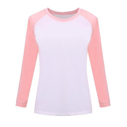 Wholesale Exo Shirts - Wholesale- 2016 Autumn Korean Pink Style Women T-shirt Sweatshirt Raglan Long Sleeve Women's Clothing Tops T-shirts For Women bts EXO