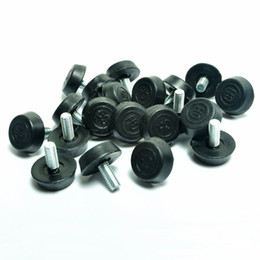 Wholesale Furniture Legs Feet - Screw On Furniture Glide Leveling Foot Adjuster for Furniture Legs M6x12mmx20mm 20 Pcs