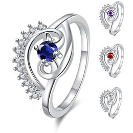Wholesale Cheap Ladies Rings - Eye Ring Platinum Plated with Crystal Zirconia Women's Cheap Rings Office Ladies and Girls Jewelry for Female Engagement Wedding Accessories