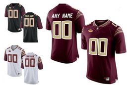 Wholesale Florida State Jerseys - Mens Florida State Seminoles Custom Stitched College Football Limited Jerseys 12 Deondre Francois Black Red White Personalized Jerseys S-3XL