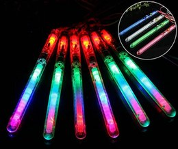 Wholesale Led Light Wands - 100% New Multi Colorful 7 Modes LED Flashing Night Light Lamp Glow Wand Sticks + strap Birthday Christmas Party festival Camp
