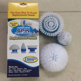 Wholesale Toilets Brushes - 3pcs set Hurricane Spin Scrubber Scrubbing Replacement Heads Hurricane Spin Scrubber Replacement Brush Head CCA6522 48set