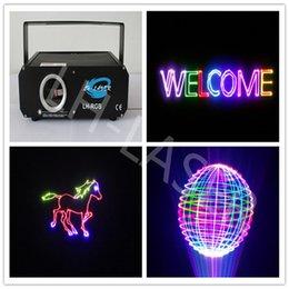 Wholesale Ilda Analog - Wholesale-500mw RGB animation analog modulation laser light show  DMX,ILDA laser disco light  stage laser projector