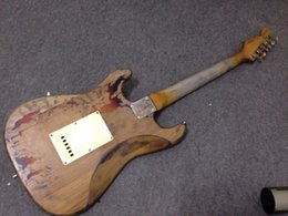 Wholesale Relic Guitars - Free shipping quality Wholesales OEM 22 frets Rory Gallagher Signature STT Relic electric guitar 100% handmade Alder body Free Shipping