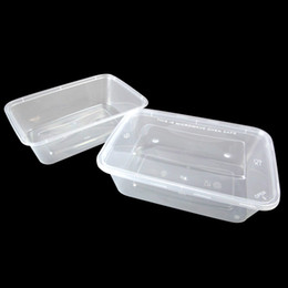 Wholesale Disposable Plastic Food Packs - 650ml Disposable Transparent Box Plastic Heat Resistant Packing Box Microwave Food Storage Container Box Fresh Fruit