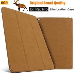 Wholesale Original Smart Case For Ipad - Wholesale- For iPad Pro 12.9 Smart Case 100% Original Brand Ultra-slim Intelligent Flip PU Leather Case For iPad Pro With Sleep Wake up New