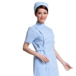 8e7a993169a doctor white short-sleeved summer female nurse lab coat pharmacy business  attire beautician uniform. Supplier: partersun