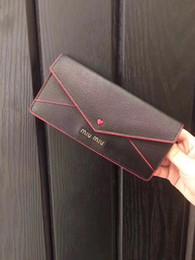 Wholesale Cowskin Leather Wallets - Miu Brand authetic Leather Wallets Men Women Long Purses 8841 wallet cowskin purse money wallet card holder