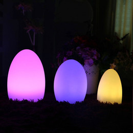 Wholesale Rechargeable Bar Table Lamp - Colorful LED Egg Bar Table Lamp Break-resistant Rechargeable LED Glowing Lighted Egg Night Light for Christmas Club Bars Light Lamp