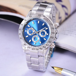 Wholesale Complete Wind - Very satisfied with the beautiful Automatic wrist watch Mechanical watches Stainless steel bracelet blue clock