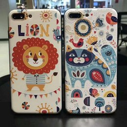 Wholesale Cartoon Girls Phone Case - For iphone6s plus cell phone cases with iphone7 plus Cartoon pattern of ultra-thin soft girl protective cover 2017 best new free shipping