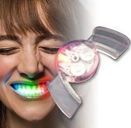 Wholesale Toy Teeth Lights - 2017 Halloween LED Flash Light Mouth Guard toys 5 Colors Party Glowing Tooth Toy decorate club Fashion dress free shipping