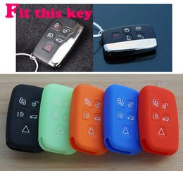 Wholesale Discovery Land - Silicone Car key cover case set protector for Land Rover range rover freelander Evoque discovery keyrings keychain accessories