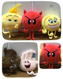 Wholesale Crazy Anime Wholesale - New Cartoon The Emoji Movie Express Yourself Plush Toy 5 Styles 20cm Stuffed Doll Crazy Happy Emoji Toys Gifts For Kids