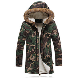 Wholesale Military Style Winter Coats Men - Long Winter Warm Parka Jacket For Men With Fur Hood Military Style Winter Jackets Mens Parkas Blig Size 5XL Long Coat For Winter