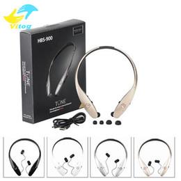 Wholesale Blue Wireless Headset - For Iphone 8 X New Universal Bluetooth Headphone Headset Earphone for iPhone Samsung HBS900 HBS 900 Wireless Mobile Earphone Headset