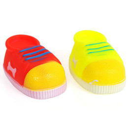 Wholesale Toy Dog Shoes - Colorful Sports Shoes Cat Dog Chew Elastic Toys Soft Plastic Pet Cat Sound Educational Toys Mini Soft Plastic Chew For Small Pets 20PCS