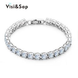 Wholesale Brilliant Beads - Visisap Elegant Brilliant AAA Cubic Zirconia Bracelets For Women Wedding Gifts For Girls Bracelets Wholesale Fashion Jewelry