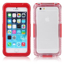 Wholesale Snow Proof Iphone - Wholesale for iPhone 6 7 plus Waterproof Phone Cover Cases Shorkproof 2 in 1 Hybrid Water Snow Proof for Samsung S6 protective case