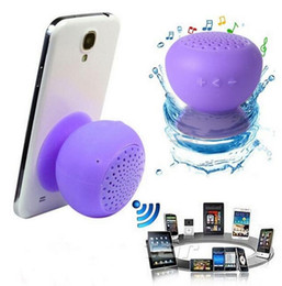 Wholesale Mini Speakers Lowest Price - 2016 Newest Mushroom Mini Wireless Bluetooth Speaker Waterproof Silicone Sucker Hands Free the lowest price high-quality Speaker